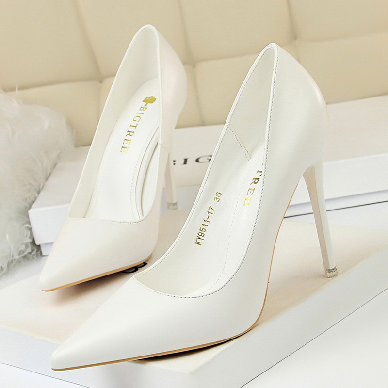 Women Pumps High Heels Shoes Plus Size 43 White High Heels Stiletto Women Shoes Pumps Women Heels Ladies Shoes Wedding Shoes