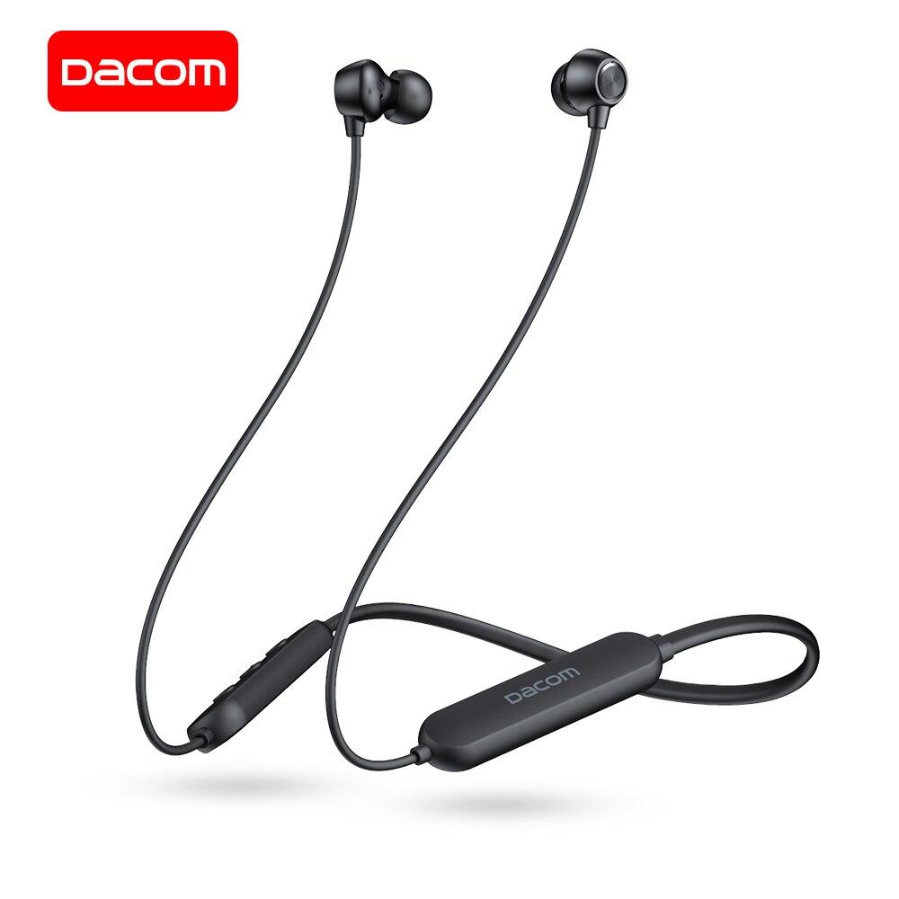 DACOM L03X шейным Спортивные наушники Bluetooth беспроводной мини стерео наушники Встроенный микрофон громкой связи Bluetooth гарнитура для iPhone Samsung
