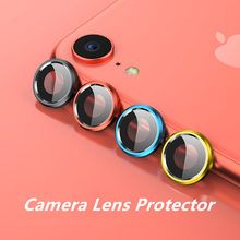 Camera Metal Ring Glass Protector for iphone XR Tempered Lens Film + Back Case Cover Screen Protection for iphone XR Accessories