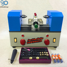 Pearl drilling machine double - head high precision pearl punch machine 5-35mm pearl perforated jewelry tools 220V