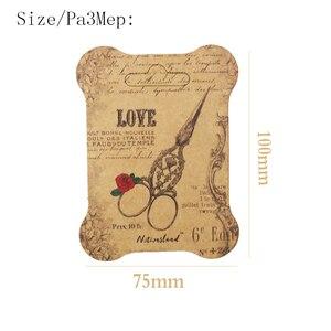 Image 5 - 100 個紙糸カード刺繍糸ボビンため収納ホルダークロスステッチ紙ボード