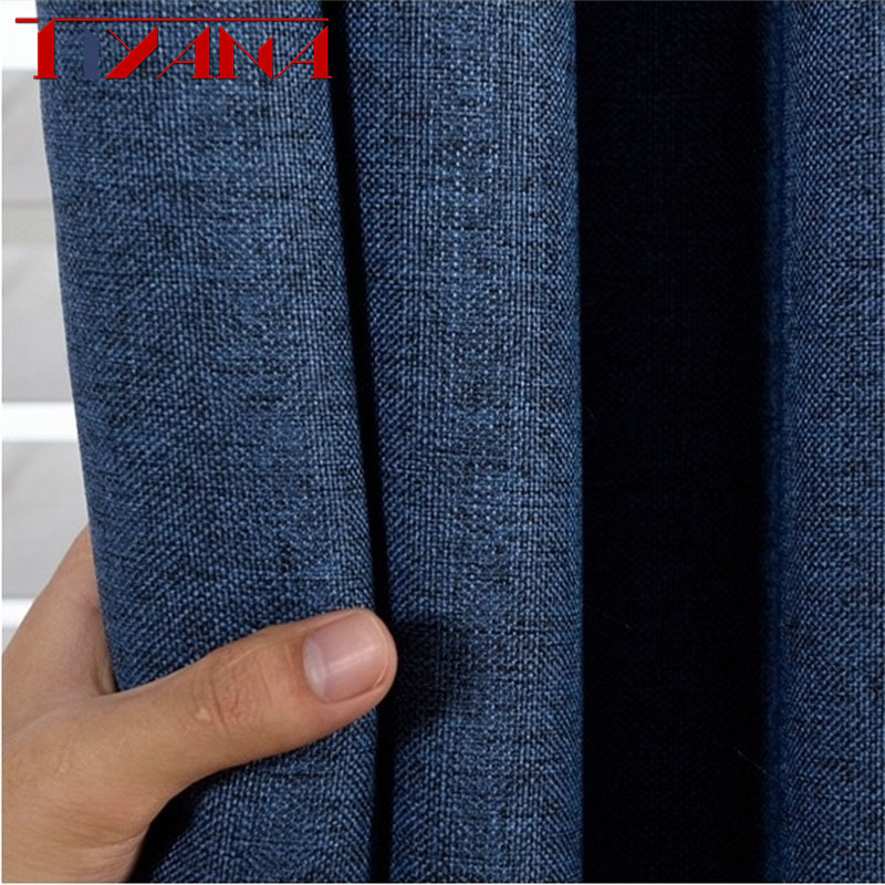 Best Selling Ready Made Solid Color Linen Curtains For Living Room Bedroom Bay Window Kitchen Curtain Modern Home Decor Wp197#4