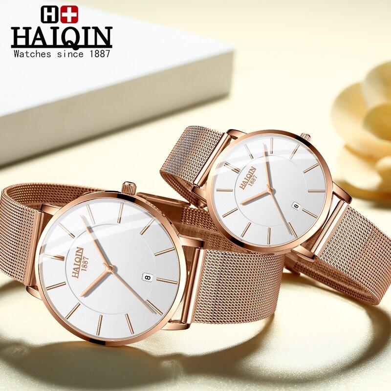 Couple Watch 2019 Lovers Watches Top Brand Luxury Quartz Couple Watch Women Clock Ladies Dress Wristwatch Fashion Men Watch Gift
