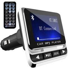 """1,"""" ЖК-Автомобильный передатчик Радио Аудио USB зарядное устройство беспроводной ручной вызов комплект Bluetooth MP3 FM"""