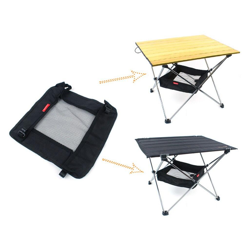 Outdoor Folding Table Storage Hanging Basket Wild Rack Camping Bag Finishing Net