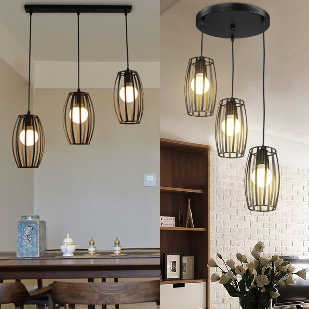 Vintage Pendant Light Loft Lighting Kitchen Bar Ceiling Lamp Fixtures Dining Room Shop Bar Decoration Pendant Light