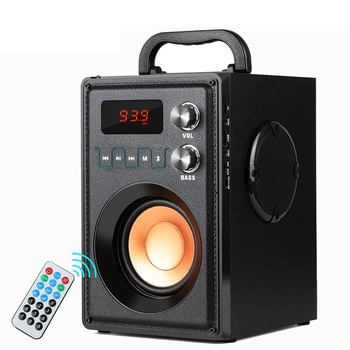 TOPROAD 20W Big Power Bluetooth Speaker Portable Stereo Bass Wireless Party Speakers with Remote Control FM Radio Mic TF AUX USB