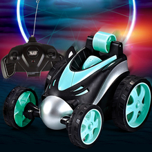 Wireless RC Car Tumbling Stunt Dump Truck Remote Control Toys For Children Electric Cool RC Cars Boy Birthday Best Gifts new rc car creative rc stunt car infrared track remote control toys cars skill remote control toys super cars for children gifts