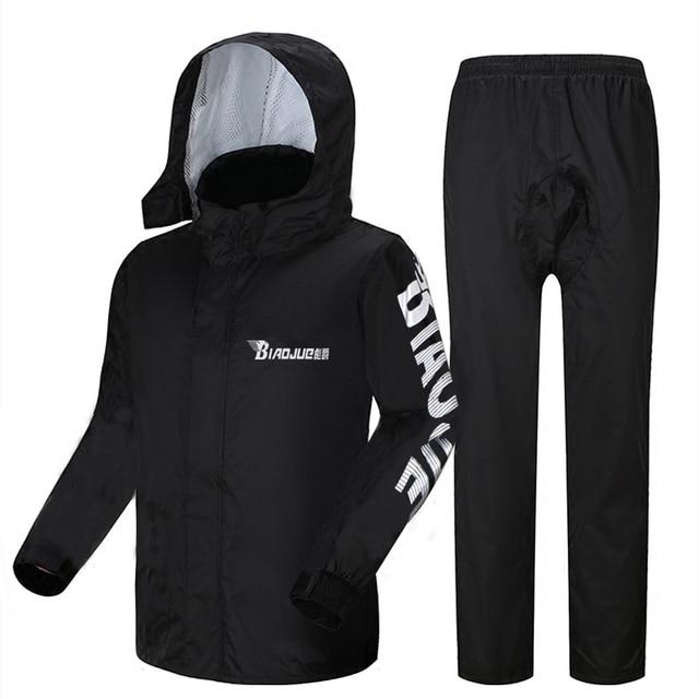 Motorcycle Raincoat Male Riding Split Waterproof Storm Rain Coat Pants Set  Jacket Rainwear Capa De Chuva Motoqueiro Gift Ideas 5
