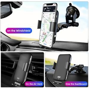 Image 5 - IHaitun seyahat otomatik hızlı kablosuz araç hızlı 10W şarj 4.0 telefon şarj standı istasyonu güç akıllı telefon şarj cihazı Huawei onur