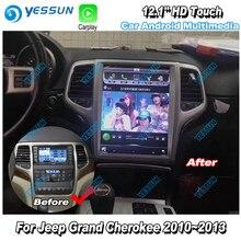 Coche HD Super pantalla de visualización TV para Jeep Grand cheroki 2010 2011 2012 2013 coche Android Radio GPS navegación sistema Multimedia