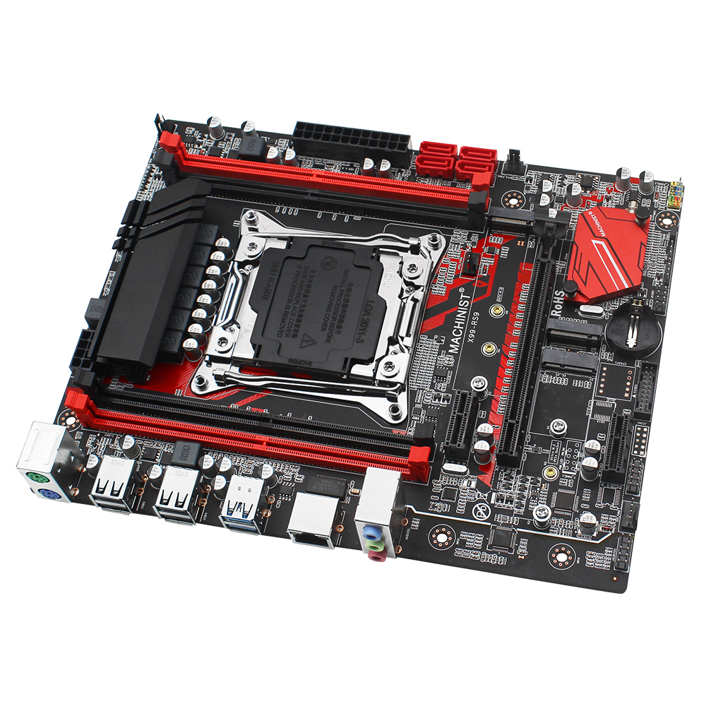 MACHINIST X99 motherboard LGA 2011-3 kit with Intel xeon E5 4620 V3 processor DDR4 16GB(2*8GB) 2666mhz RAM memory M-ATX X99-RS9 2