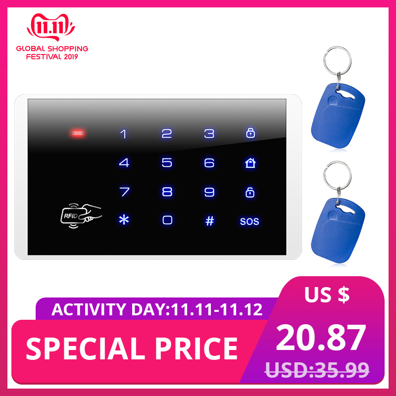 KERUI K16 RFID Touch Wireless Password Burglar Access Control System Arm/Disarm Keypad For KERUI PSTN GSM WiFi Alarm Systems
