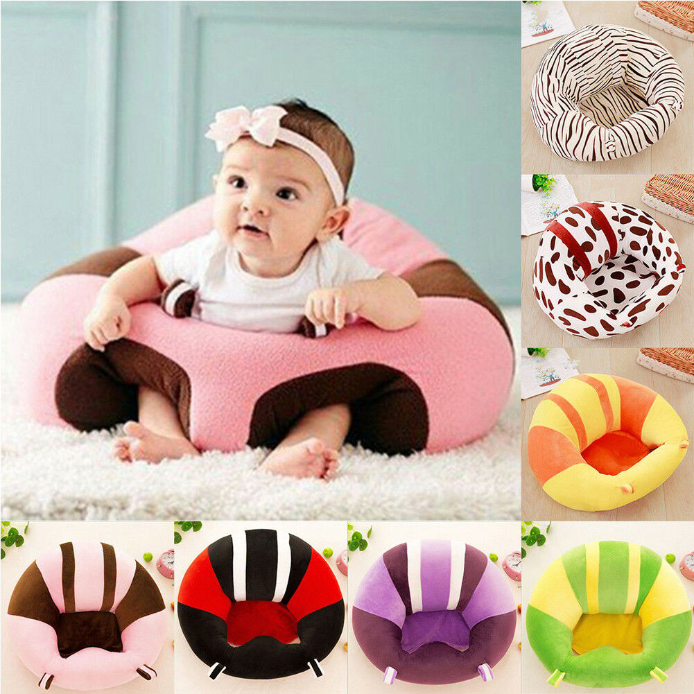 Infant Toddler Baby Kids Support Seat Sit Up Soft Chair Cushion Sofa Plush Pillow Toy Bean Bag Animal Sofa Seat  Cover