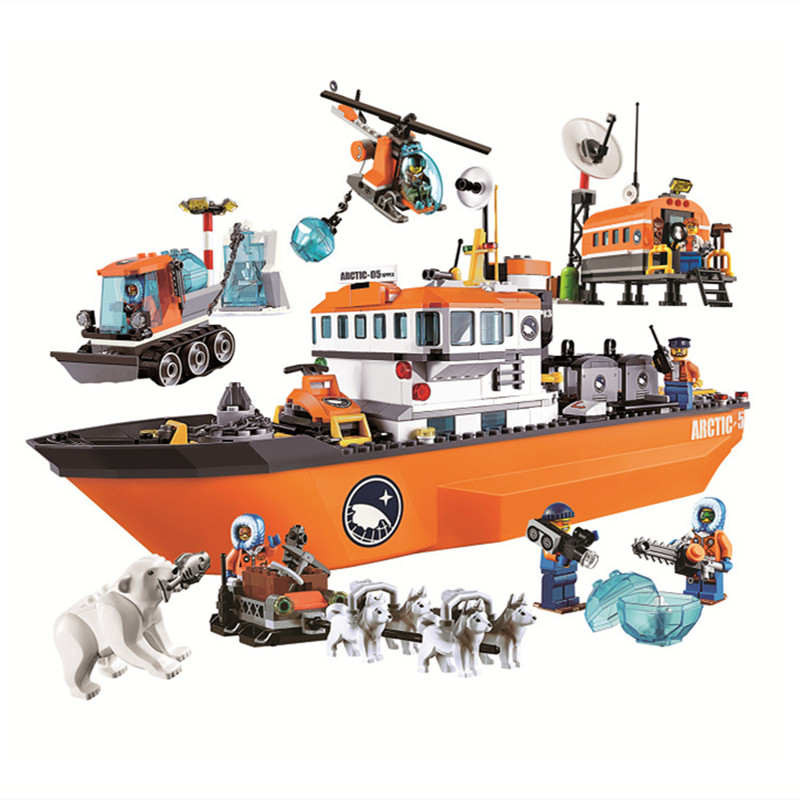 10443 760pcs Urban Arctic Icebreaker Bela Compatible with Lepining  60062 Building Block Toy Blocks     - title=