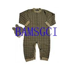 Romper Sweater Baby-Boy Newborn Toddler Girls Knit Winter Letter Cotton Hat-Sets Long-Sleeve