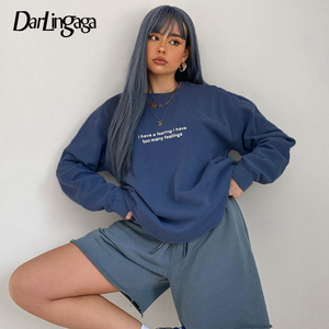 Darlingaga Casual Loose Letter Printed Sweatshirt Women 2020 Autumn Winter Pullovers Harajuku Top Sweatshirts Outfits Sudadera