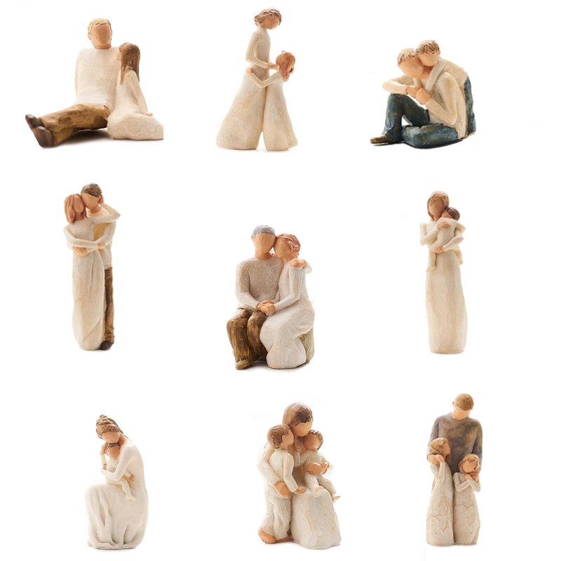 [MGT]Nordic Style Love Family Resin Figure Figurine Ornaments Family Happy Time Home Decoration Crafts Furnishings