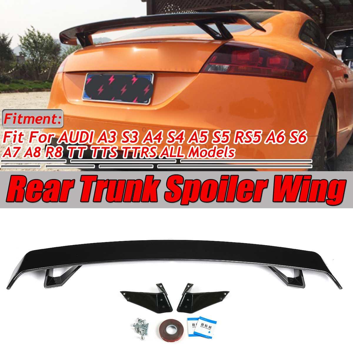 2 типа A4 TT TTS Автомобильный задний багажник загрузки спойлер крыло большой для Audi A3 S3 A4 S4 A5 S5 RS5 A6 S6 A7 A8 R8 TT TTS TTRS спойлер крыло