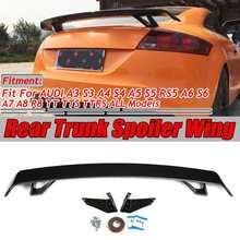 2 Type A4 Tt Tts Auto Kofferbak Boot Lip Spoiler Wing Big Voor Audi A3 S3 A4 S4 A5 s5 RS5 A6 S6 A7 A8 R8 Tt Tts Ttrs Spoiler Wing