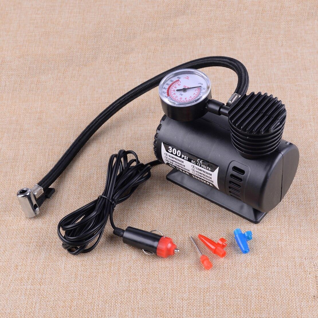LETAOSK 12V 1 adet 300PSI taşınabilir Mini hava kompresörü oto araba elektrikli lastik hava şişirme pompası aracı