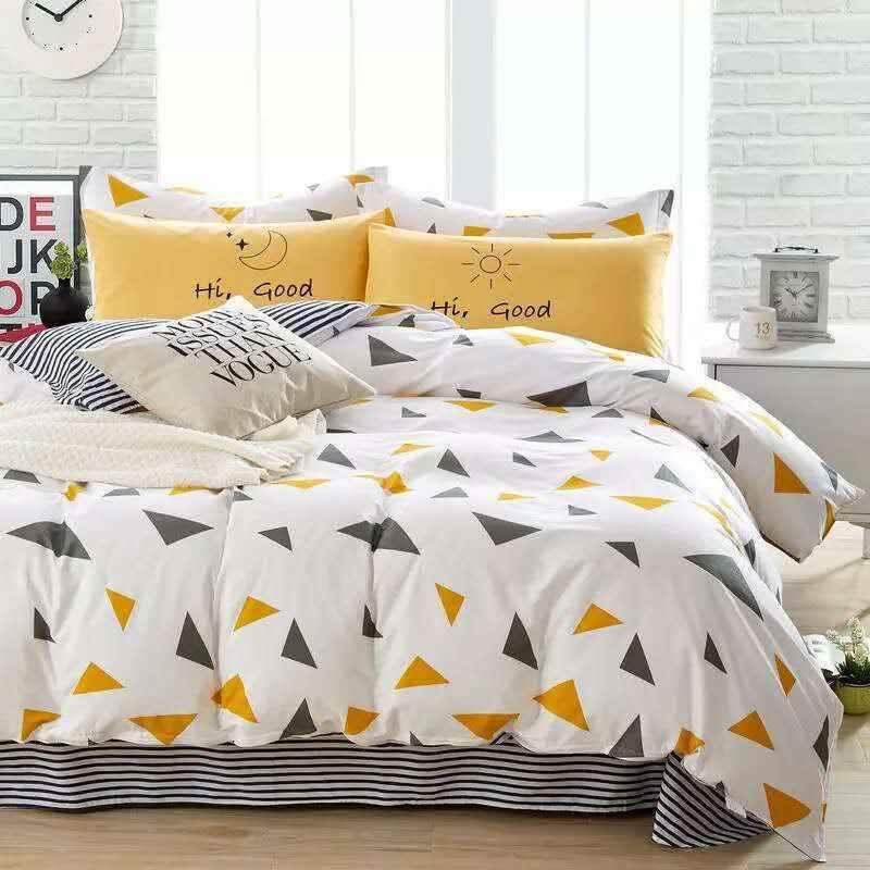 Пододеяльник из 100% хлопка с разноцветными геометрическими рисунками для детей и взрослых, односпальная двуспальная кровать для спальни, XF650-32 (без наволочки)
