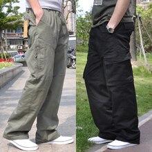Calças masculinas harem tactica marca 2020 verão flacidez algodão caigo calças calças masculinas plus size esportivo dos homens joggers pés calças