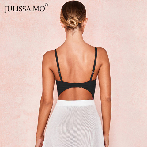 JULISSA MO Black Double Layer Mesh Bodysuits Women Sexy V Neck Transparent Rompers Summer Camis Strap Backless Party Overalls Islamabad