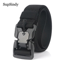 SupSindy Military Army Combat Tactical belts for Men Quick Release Buckle Stretc