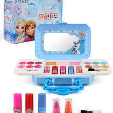 Nueva Disney niñas congelados elsa anna cosméticos set de belleza de juguete niños nieve blanco de la moda de la princesa juguetes niños de la casa de regalo