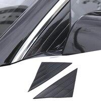 Carbon Faser Stil Auto Front Tür Dreieck Abdeckung Fenster Trim Außen Auto Zubehör Für Tesla Modell 3 2018 2019-in Chrom-Styling aus Kraftfahrzeuge und Motorräder bei