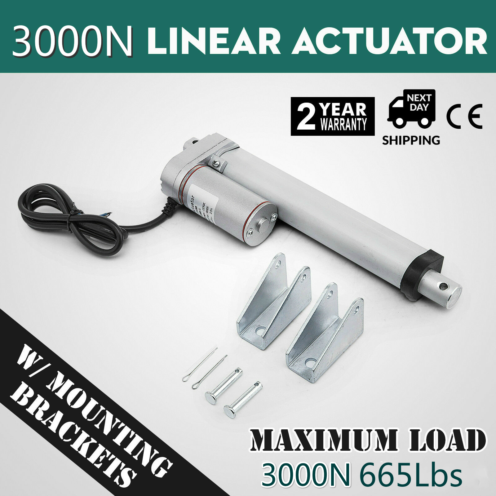 DC 12V 330lbs 10mm-200mm Lifting Distance Linear Actuator 150KG Electric Motor