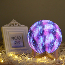 3D Print Moon Lamp Colorful Change Touch Led Night Light Home Decor Creative Christmas Gifts