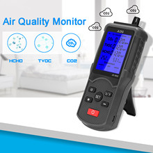 8 in 1 Air Qualität Tester CO2 TVOC Meter Temperatur Feuchtigkeit Messgerät CO2 ppm Meter Mini Kohlendioxid Detektor