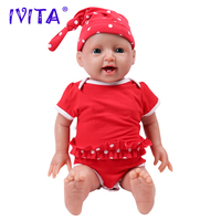 IVITA WG1508 51cm(20inch) 4000g full body soft silicone reborn baby doll Alive Girl Simulation emotional companion toy