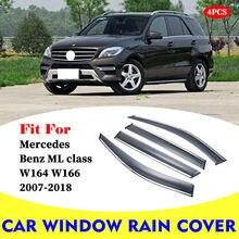 Deflectores de ventana de coche, protector solar, cubierta de ventilación de lluvia, embellecedor, para Mercedes Benz W164 W166 ML clase ML300 ML400 ML350