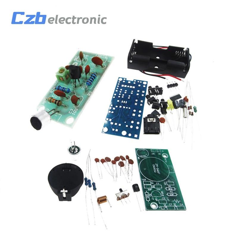 FM Radio Wireless Receiver Module Frequency Modulation Microphone PCB DIY Kits