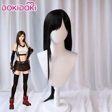 Dokidoki final fantasia vii tifa lockhart peruca feminina longa preto final fantasia cosplay peruca tifa ff observação