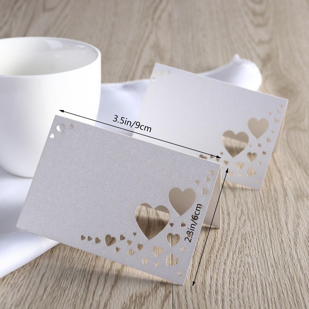 25pcs White Vine  Cut Wedding Party Table Nom Place Cards Favor Decor