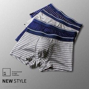 Image 4 - Bokserki męskie modalne bielizna 6 sztuk/partia mężczyźni Boxershorts w paski szary kalesony ubrania oddychające elastyczne spodnie męskie cuecas