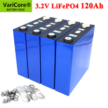 VariCore 3.2v 120ah lifepo4 Rechargeable Battery DIY 12v 24v 36v 48v deep cycle package ldp lithium cell lithium iron phosphate