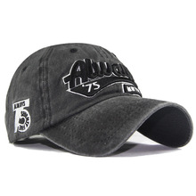 Water-washed pure cotton 3D embroidered water-washed always 75 letters baseball cap, outdoor leisure sunscreen sunshade fas