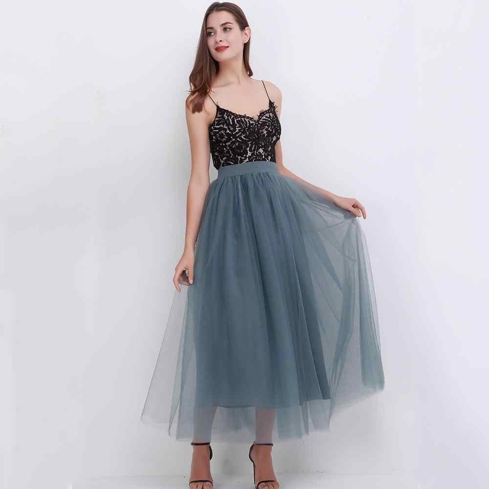100cm חדש מגיע נשים Vestidos ארוך טול חצאיות 2019 רצפת אורך טוטו חצאיות למבוגרים חתונה לוליטה Sashes שושבינה חצאיות