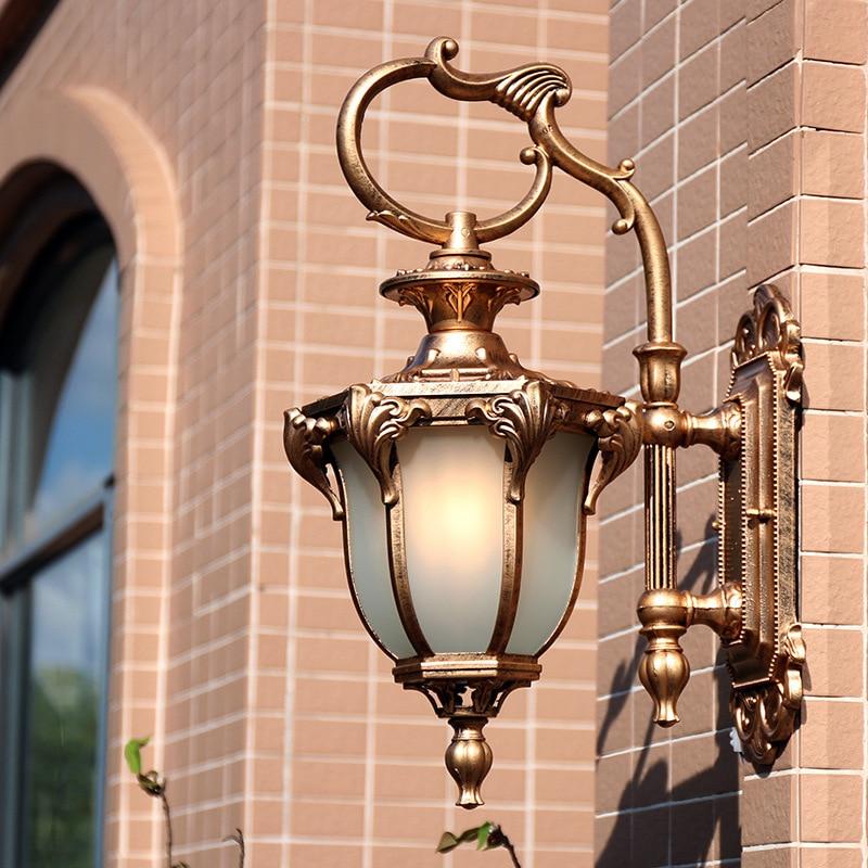 European Retro Wall Lamp Outdoor Waterproof American Courtyard Balcony Living Room Corridor Villa Wall Light