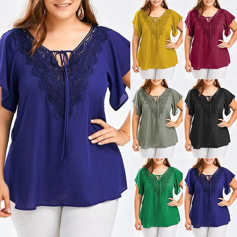 XL 5XL Big Plus Size Womens Female Fashion Casual Loose tops Shirts Blouse Shirts|Blouses & Shirts| - AliExpress