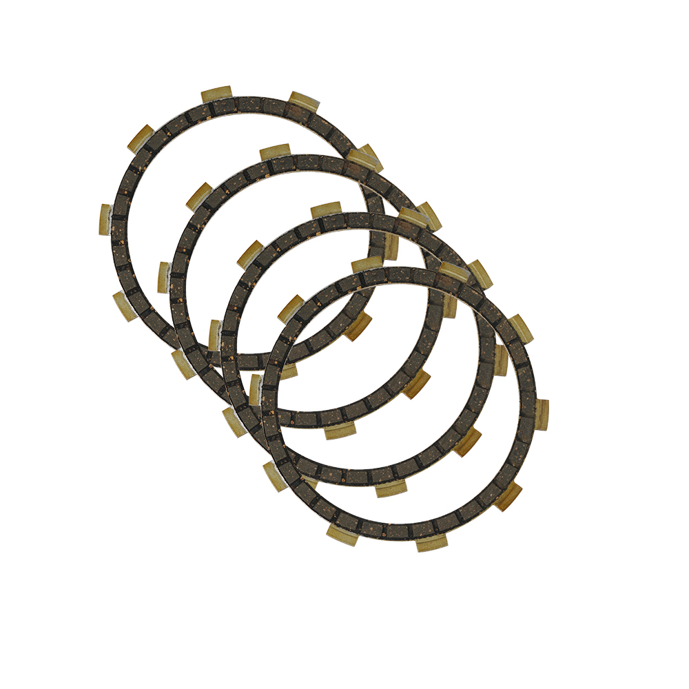Set Of 4 Pcs Motorcycle Clutch Friction Discs 4mm Thick Replacement For Yamaha AS2 125 AT1 AT2 CS3 CT1 DT100 DT175 HS1 LS2 LTMX