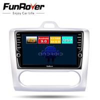 FUNROVER octa core Android 9.0 2 din Car DVD multimedia player For Focus mondeo Radio GPS stereo navigation DSP 4G 64G LTE