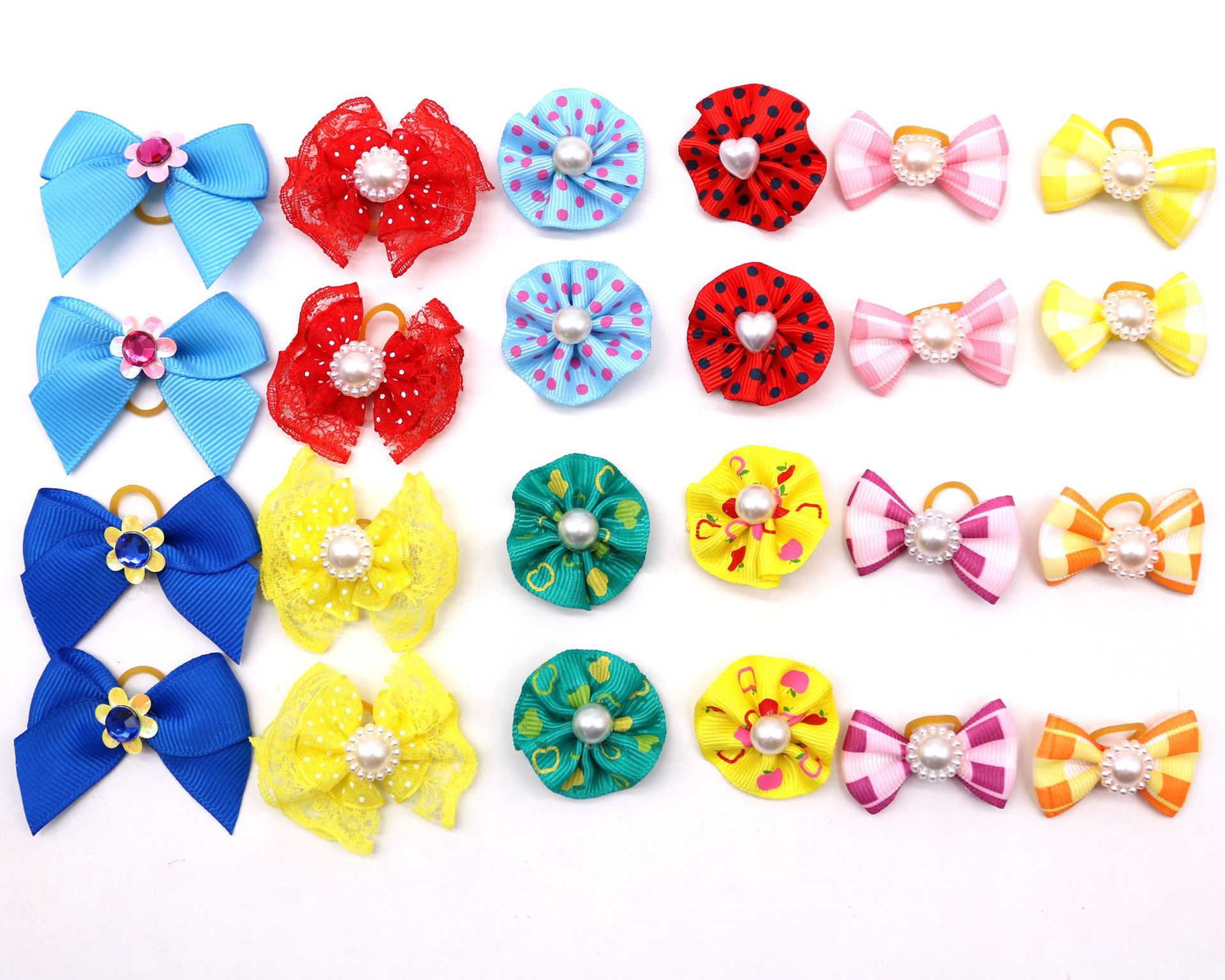 30/50/pcs Dog Hair Bows Puppy Yorkshirk Small Dogs Hair Accessories Grooming Bows Rubber Bands Dog Bows Pet Supplies