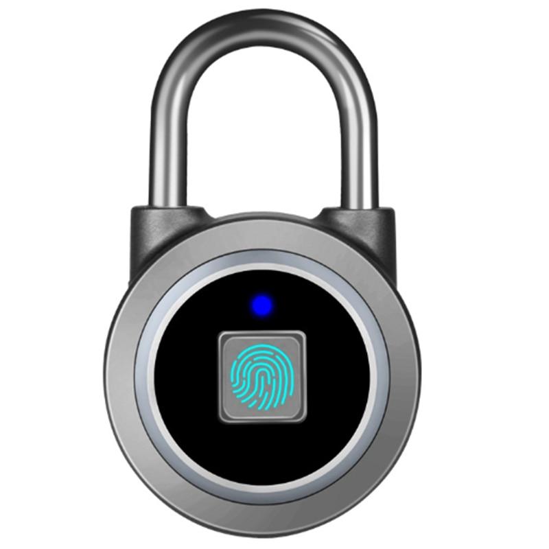 Smart Keyless Fingerprint Padlock Waterproof APP Control Lock Fingerprint Unlock Anti-Theft Security Padlock Cabinet Door Luggag