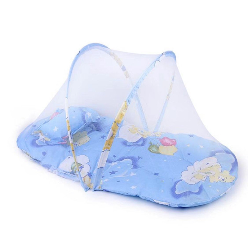 Small Crib Padded Mosquito Net Cotton Pad Baby QuiLT Foldable Storage Mosquito Net